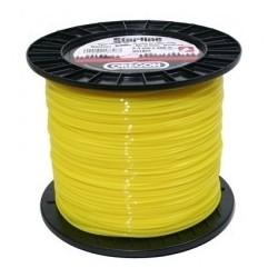 Żyłka do kosy gwiazdka 3,0mm x 120m (Żółta)