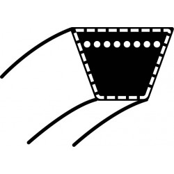 Pasek klinowy MTD JE125/JN150/JN200 - napęd jazdy (15,8 x 134,2) (754-0629)