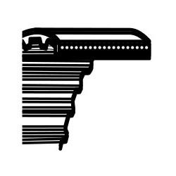 Pasek zębaty Castelgarden TC122, Honda HF2220H Stiga Estate 122 - napęd noży (1800DS8M25) (35065601