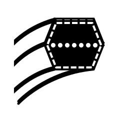Pasek klinowy MTD minitraktory 102cm - nap. noży (12,7 x 2287) (754-0443A)