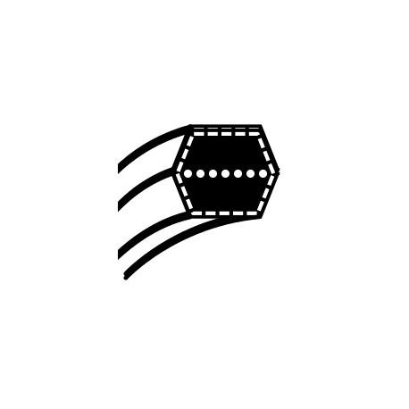 Pasek klinowy Husqvarna CTH 150, 180  Partner P18H107RB | McCulloch M185107HRB - napęd noży (12,7 x 2882,9) (532 16 91-78)