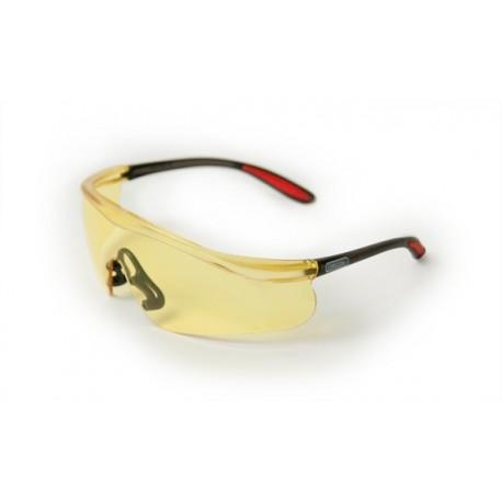 Okulary ochronne - szkła pliwęglanowe, żółte