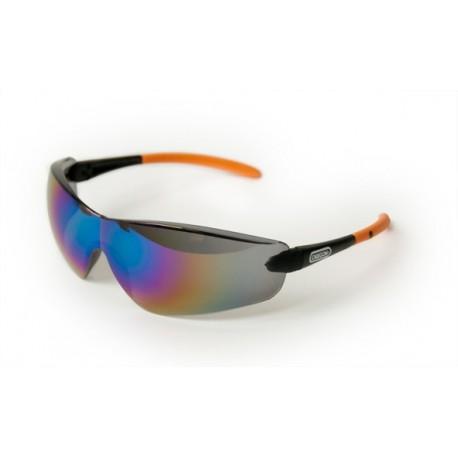 Okulary ochronne - szkła pliwęglanowe, czarne lustrzane