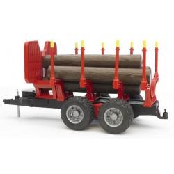 Zabawka - Przyczepa z 4 pniami drzewa