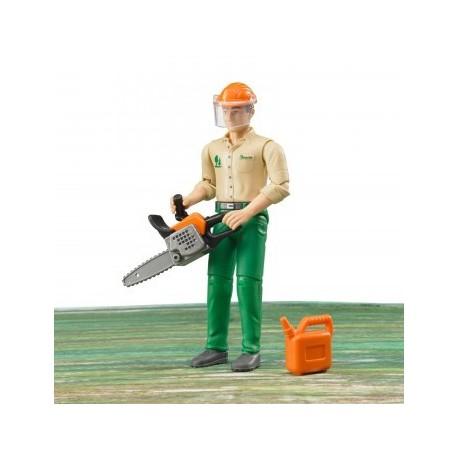 Zabawka Figurka drwala z akcesoriami