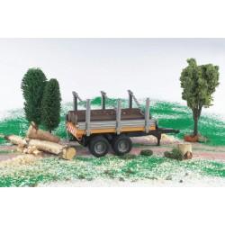 Zabawka Przyczepa dwuosiowa do transportu drewna