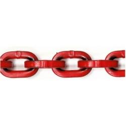 Łańcuch zrywkowy klasa 8 f8mm 20 metrów, czerwony
