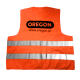 Odblaskowa kamizelka OREGON® pomarańczowa XXXL - Tył