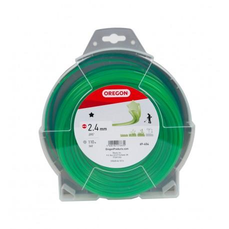Żyłka okrągła zielona 2,4mm x 88m 69-364