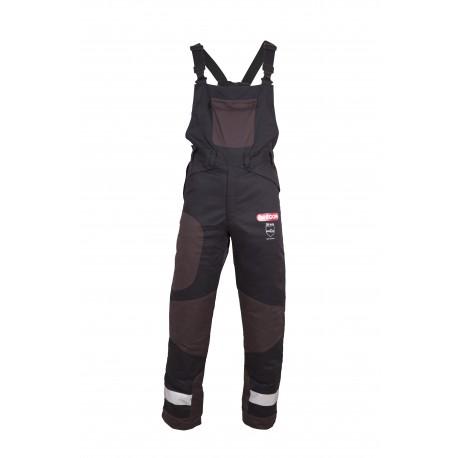 Spodnie antyprzecięciowe YUKON+, ogrodniczki Klasa 1 (Typ A) - L
