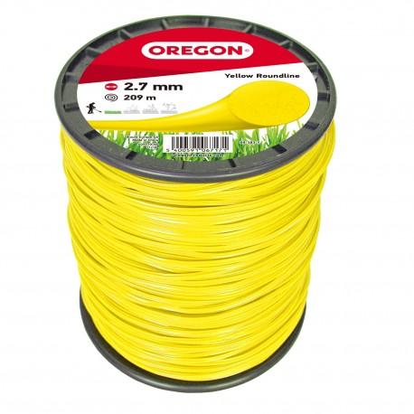 Żyłka do kosy okrągła OREGON 2,7mm x 209m (żółta)