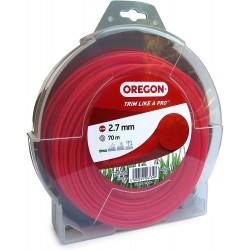 Żyłka do kosy okrągła OREGON 2,7mm x 70m (czerwona)