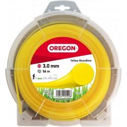 Żyłka do kosy okrągła OREGON 3,0mm x 56m (żółta)
