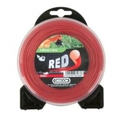 Żyłka do kosy okrągła 3,0mm x 9m (Czerwona)