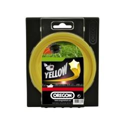 Żyłka do kosy gwiazdka 2,4mm x 15m  (Żółta)