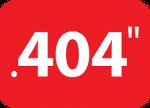 Podziałka układu tnącego .404 cala